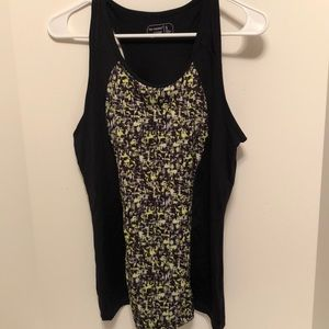 Be Inspired  sports top, black, yellow . Sz S